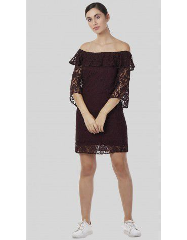 SbuyS - Off Shoulder Lace Dress