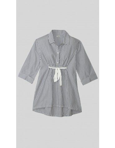 Beyond Clouds - Button Down Striper Dress