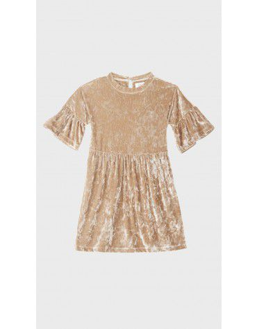 Beyond Clouds - Teen Girls Flutter Sleeve Velvet Dress
