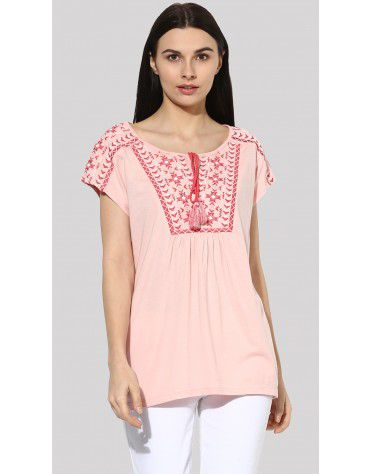 SbuyS  - Dolman Sleeves Embroidered T-Shirt
