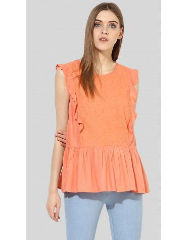 SbuyS  - Ruffled Embroidered Top