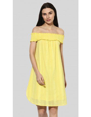 SbuyS - Smocked Off Shoulder Midi Dress