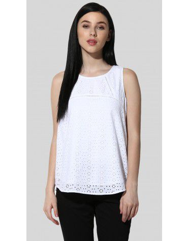 SbuyS  - Sleeveless Schiffli Top