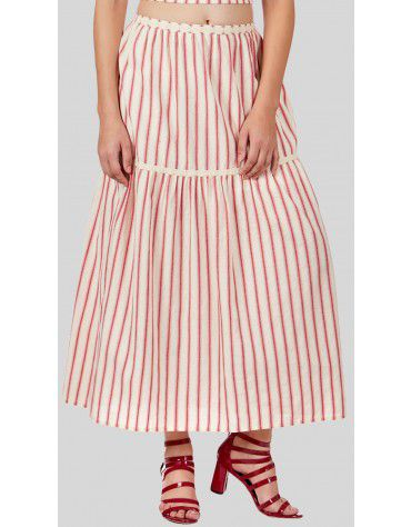 SbuyS  - Striper Tiered Maxi Co-ords Skirt Set