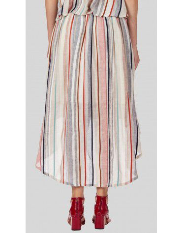 Sbuys - Stripe Maxi Co-ords Skirt Set
