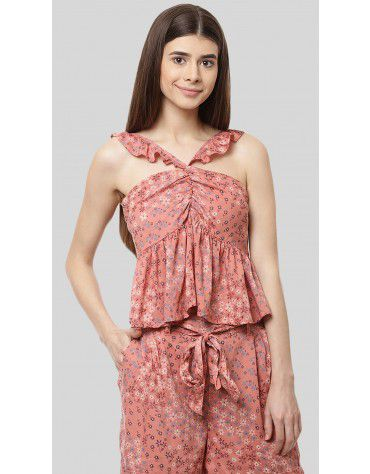 SbuyS - Printed Halter Neck Cami Top