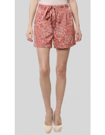 SbuyS - Tie Front Printed Short
