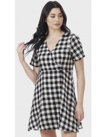 SbuyS - Check Wrap Midi Dress