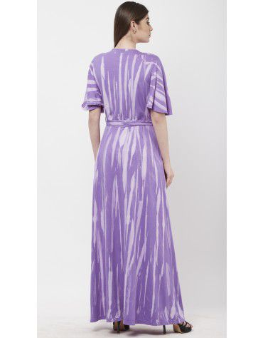 SbuyS - Tie Dye Button Down Belted Maxi Dress