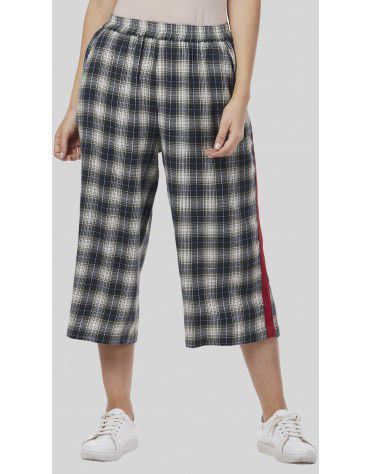 SbuyS - Cropped Plaid Co-ords Trousers Set