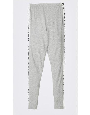 Beyond Clouds - Teen Girls Grey Slogan Printed Legging