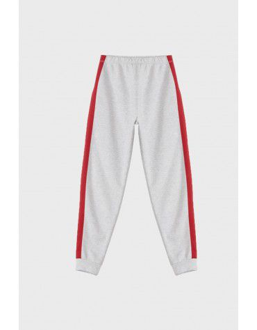 Beyond Clouds - Teen Girls Red Contrast Tape Legging