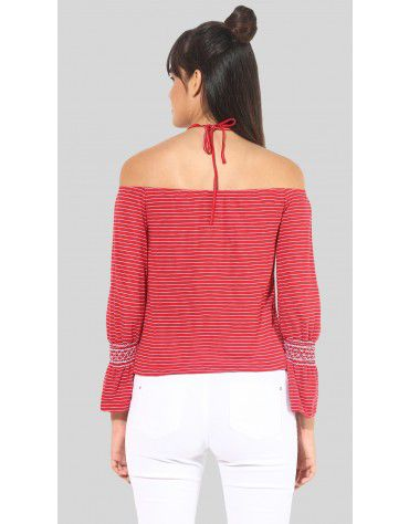 SbuyS - Stripe Halter Neck Top