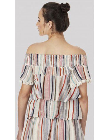 SbuyS  - Off Shoulder Ruffle Top