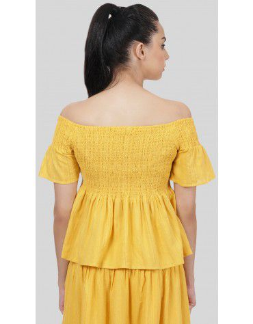 SbuyS  - Smocked Off Shoulder Top