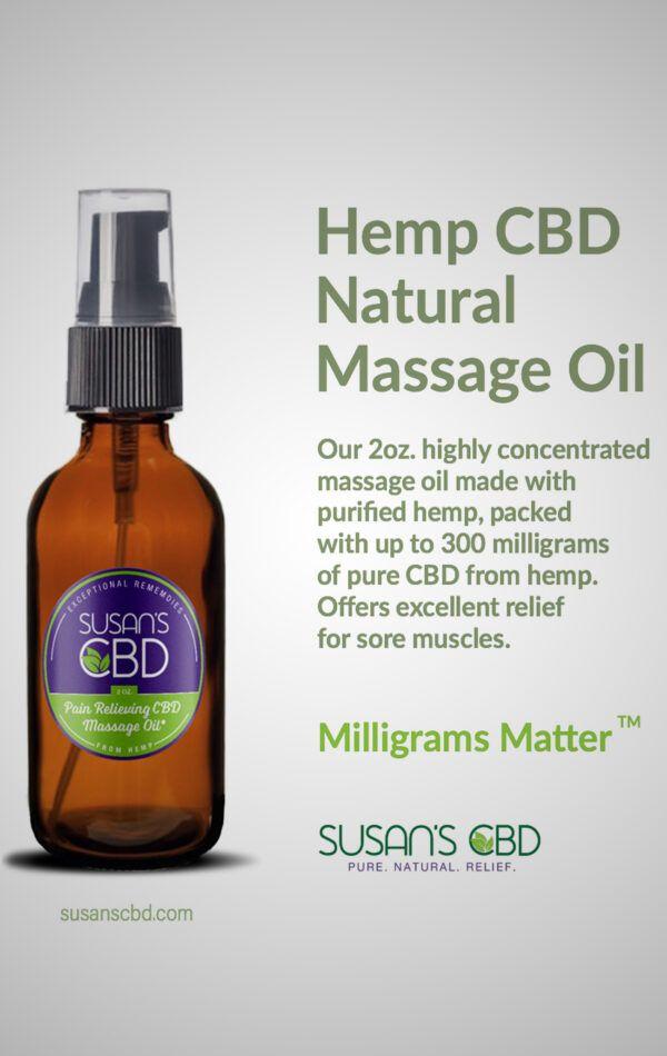 Susan's Massage Oil 2oz info