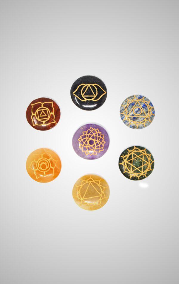 Chakra Stones Engraved