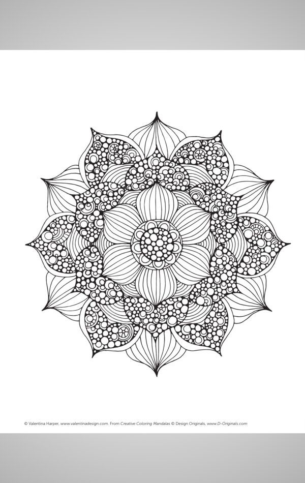 Creative Coloring Mandalas Coloring Book Inside