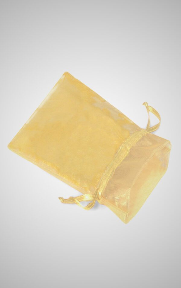 Gold Organza Gift Bag