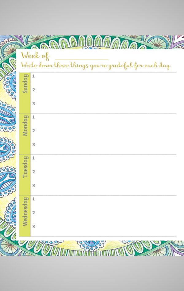 Gratitude Journal Inside