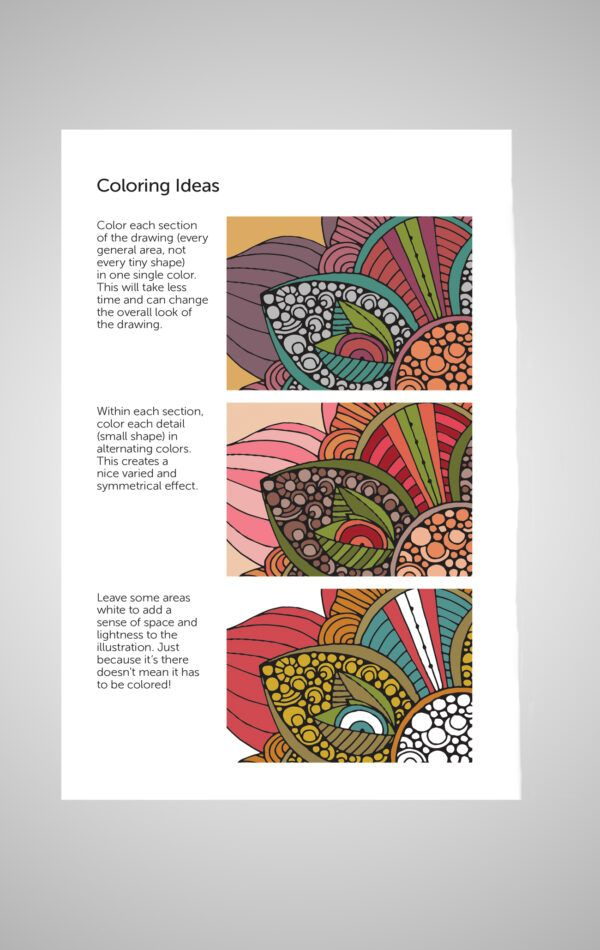 Color Relax Portable Coloring Book Inside