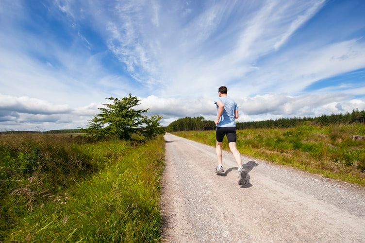 Man running for daily exercise