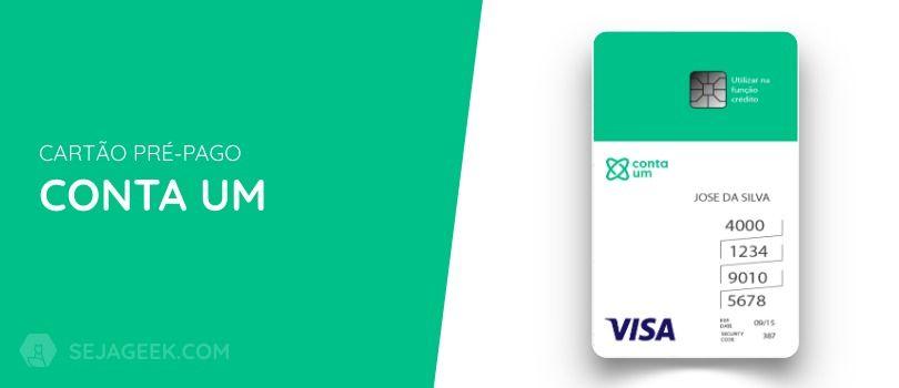 Cartão Pré Pago Conta Um