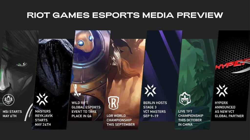 Riot Games telah menayangkan pratonton kalendar e-sukan mereka menjelang separuh kedua 2021 yang melibatkan Valorant, League of Legends serta League of Legends: Wild Rift.