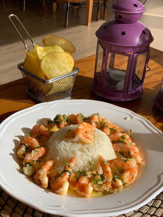 Merkado Restaurante - Na Lagoa de Óbidos - Servido Menu (Takeaway, Delivery) - Camarão á Merkado