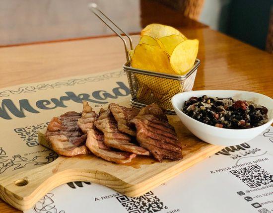 Merkado Restaurante - Na Lagoa de Óbidos - Servido Menu (Takeaway, Delivery) - Picanha na Tábua