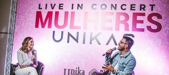 Paulo Alberto é o apresentador oficial do Live in Concert Mulheres Unikas que aconteceu em São Paulo