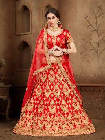 Red color Art Silk Lehenga Choli