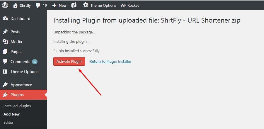 shrtfly wordpress plugin