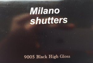 Black High Gloss RAL9005