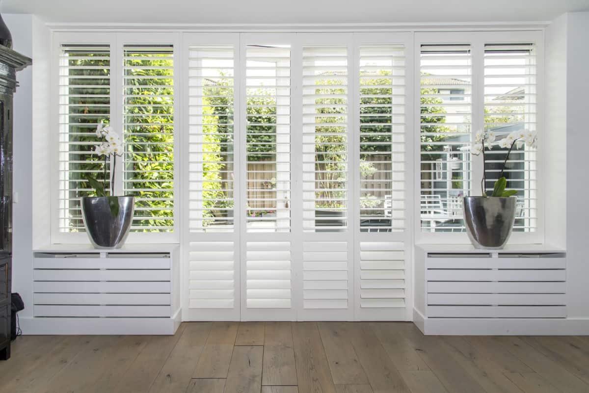 Witte shutters luxury line tuindeur