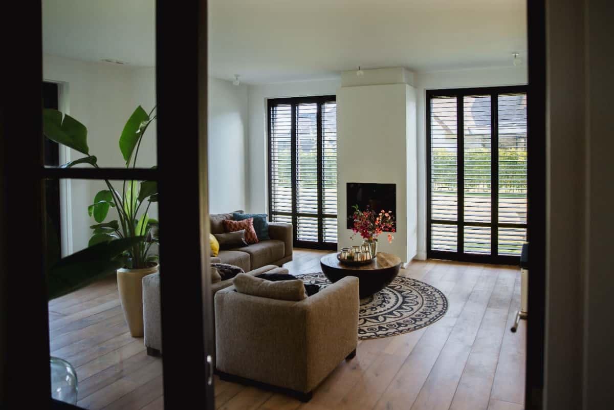 Luxury line zwarte shutters