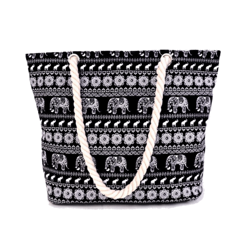 Elephant Canvas Tote