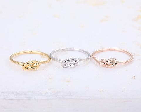Knotted Heart Knuckle Ring