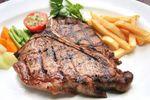 T-bon steak grilled ,Quality  Greek Traditional Food by Sirtaki