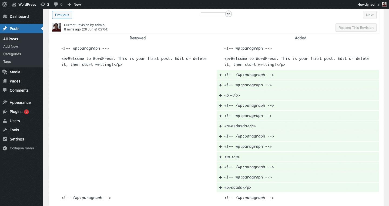 Cara Menggunakan Fitur Revisi Artikel WordPress