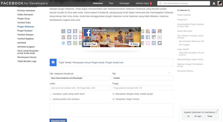 Cara Menampilkan Timeline Facebook Di Blog WordPress