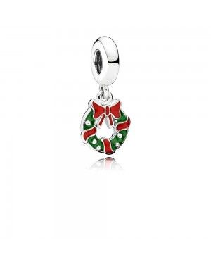Pandora Holiday Wreath Pendant Charm 796362ENMX