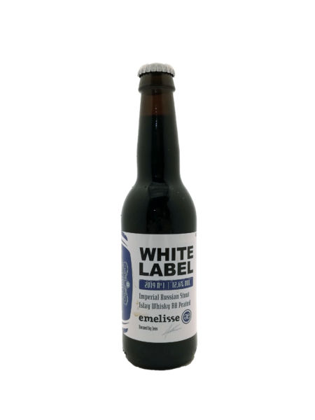 White Label Imperial Russian Stout Islay Whisky BA Peated 2019 Brouwerij Emelisse