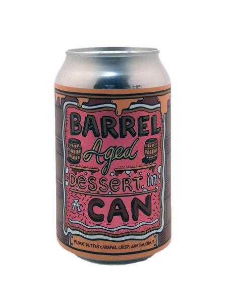 Barrel Aged Dessert In A Can - Peanut Butter Caramel Crisp Jam Doughnut Amundsen Brewery