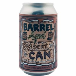 Barrel Aged Dessert In A Can - Chocolate Covered Salted Toffee Popcorn Amundsen Brewery