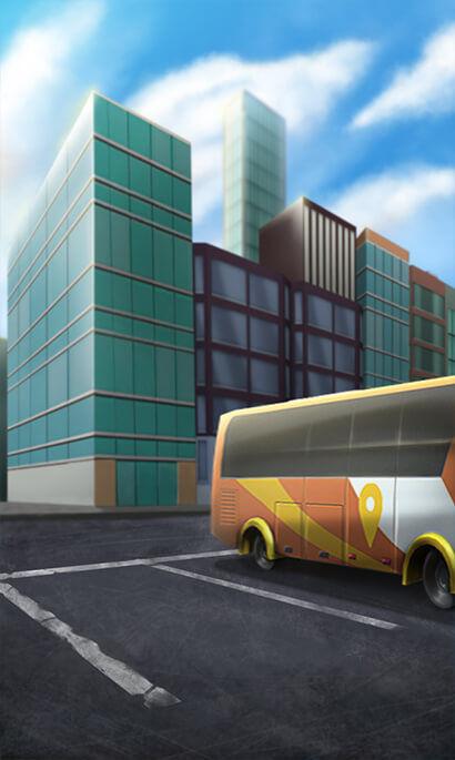 Bus Parking 3D background