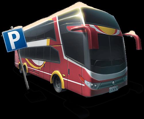 Bus Parking 3D figure