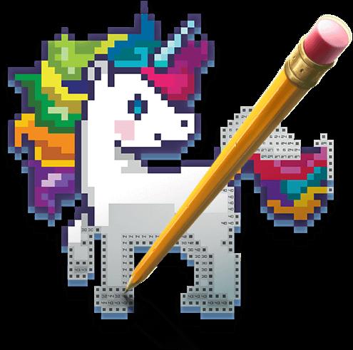 Color Pixel Art Classic figure
