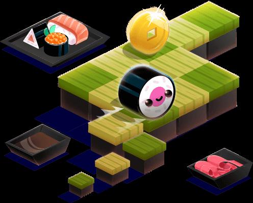 Sushi Roll figure