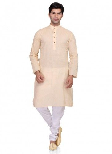 Beige Cotton Ethnic Wear Kurta Readymade Kurta Payjama